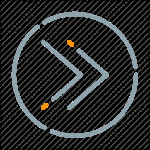 Arrow, Circle, Fast, Forward Icon