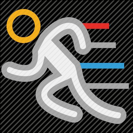 Exercise, Man, Runner, Running Fast Icon