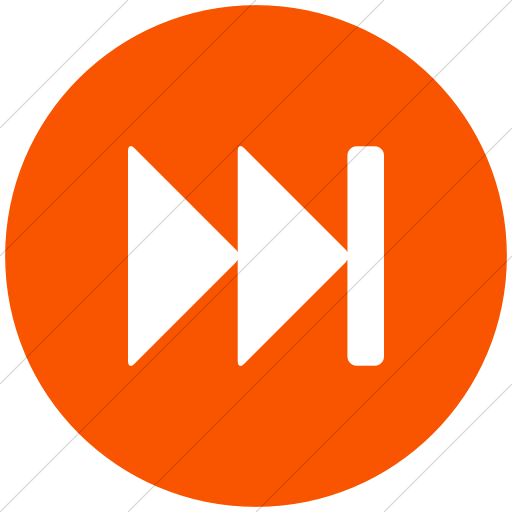 Flat Circle White On Orange Bootstrap Font Awesome Fast
