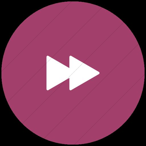 Flat Circle White On Pink Foundation Fast Forward Icon
