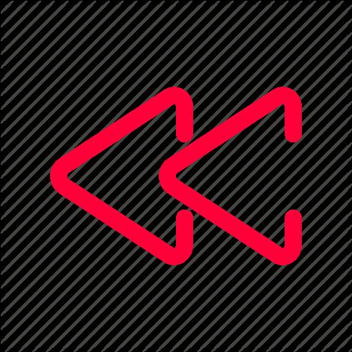 Line, Music, Pink, Rewind, Track Icon