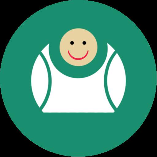 Big, Contact, Fat, Fun, Laugh, Green Icon