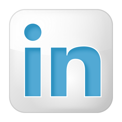 Social Linkedin Box White Icon