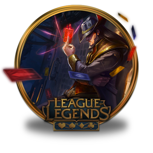Twisted Fate Icon League Of Legends Gold Border Iconset