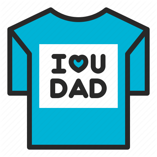 Father's Day, Gift, Message, Presents, Printing, T Shirt Icon