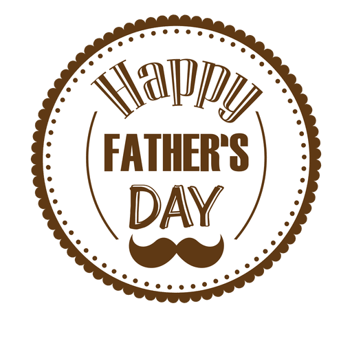 Happy Fathers Day Round Badge