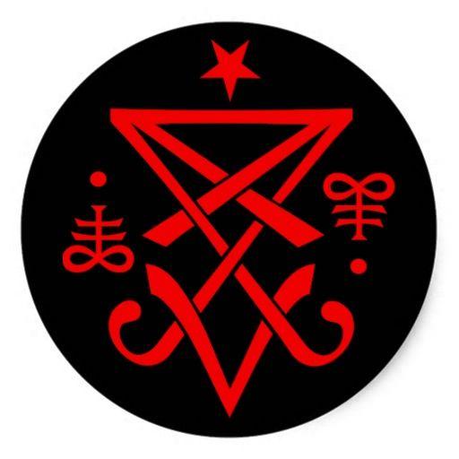 Adesivo Redondo Sigil Oculto De Lucifer