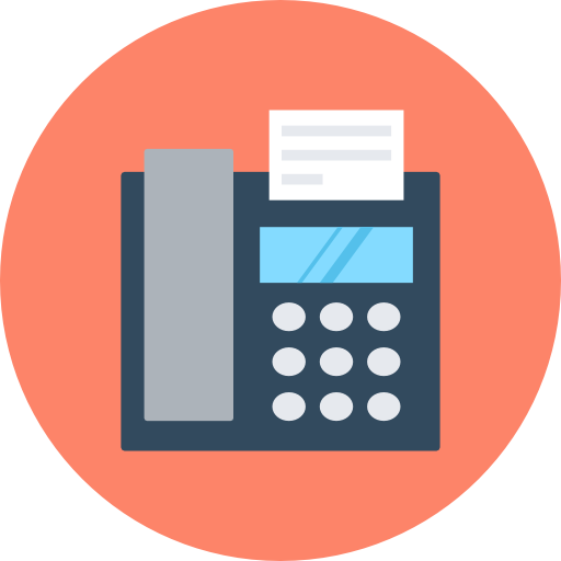 Fax Icon Communication Vectors Market