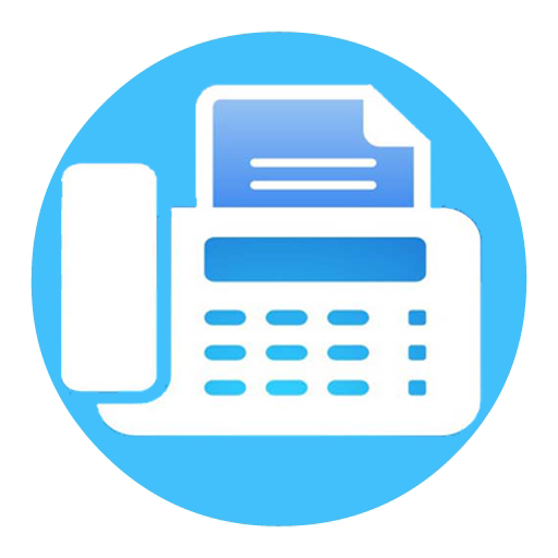 Pictures Of Blue Fax Icon