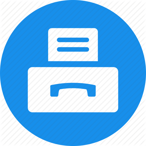 Document, Efax, Fax, Incoming, Machine, Outgoing Icon