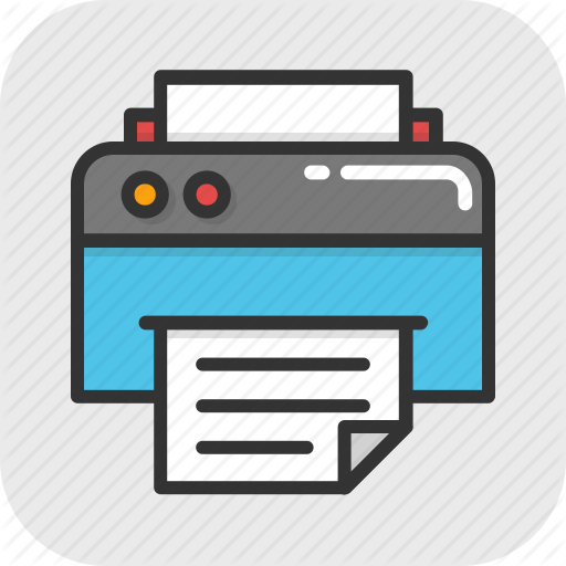 Facsimile, Fax, Fax Machine, Inkjet Printer, Printer Icon