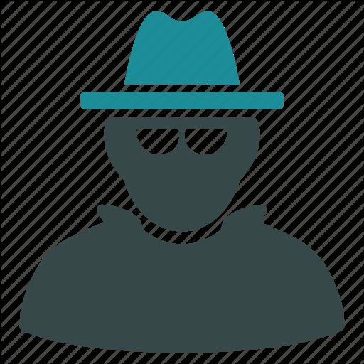 Cia Spy, Detective, Fbi Agent, Hacker, Hat, Secret Service, Thief Icon