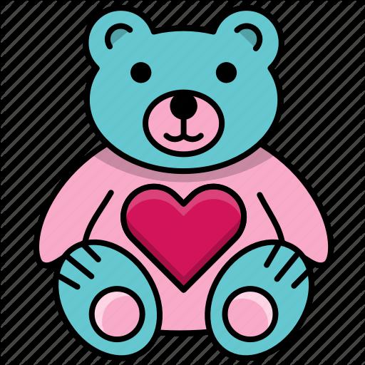 Bear, Feast, Heart, Love, Teddy Bear, Valentine, Valentine's Day Icon