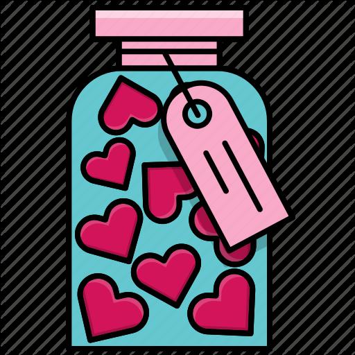 Feast, Heart, Jar, Love, Valentine, Valentine's Day Icon