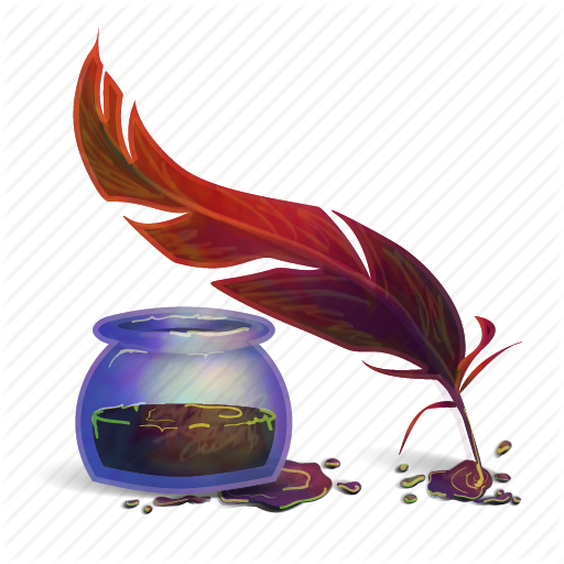 Ink Bottle And Feather Png Transparent Ink Bottle And Feather