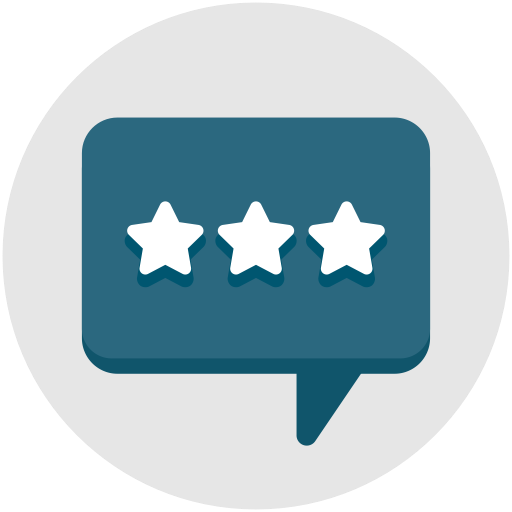 Stars, Comment, Chat, Feedback, Communication, Interview Icon