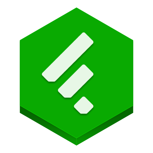Feedly Icon Hex Iconset