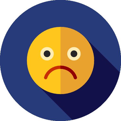 Unhappy, Sad, Emoticons, Emoji, Feelings, Smileys Icon