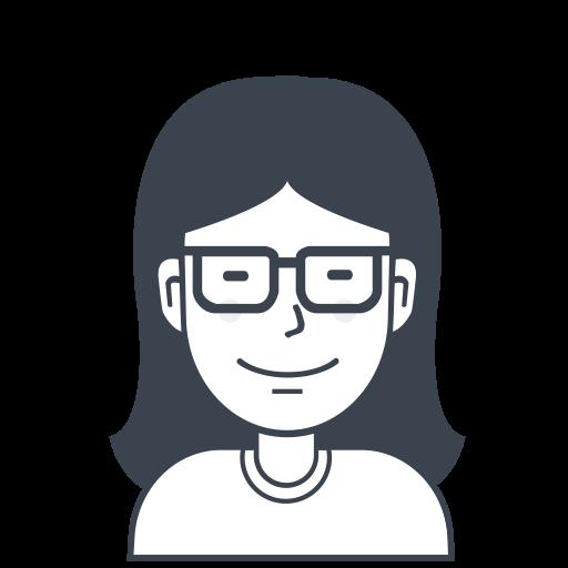 Girl, User, Person, Glasses, Female, Avatar Icon