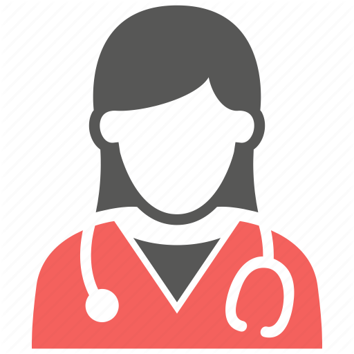 Doctor, Female, Healthcare, Hospital, Stethoscope Icon