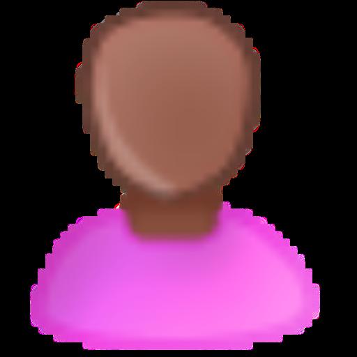 Pink, Bald, Female Icon