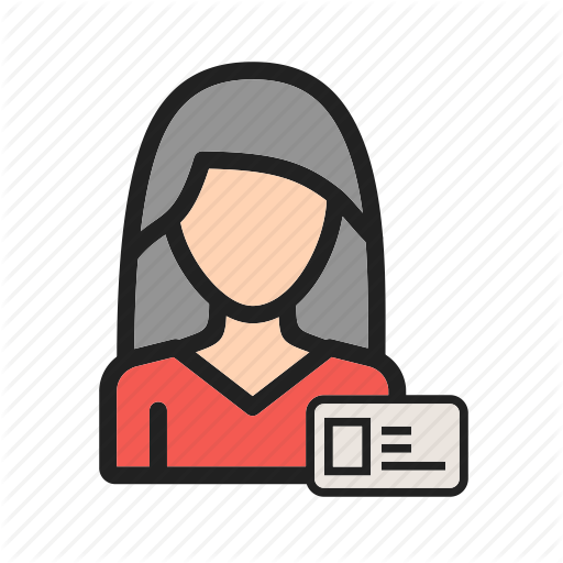 Business, Card, Employee, Female, Id, Profile, Woman Icon