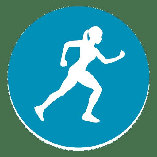 Female Athlete Circle Icon