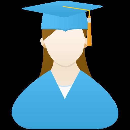 Graduate Female Icon Flatastic Iconset Custom Icon Design