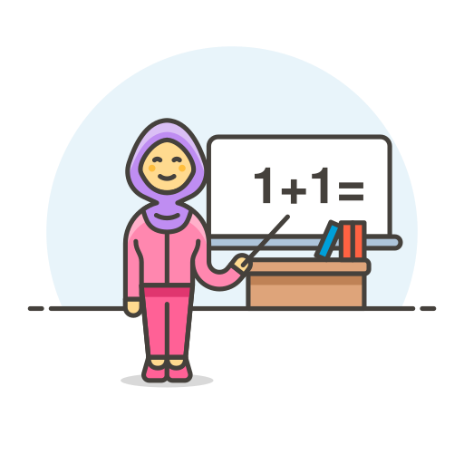 Teacher, Maths, Female Icon Free Of Stream Line Ux Free Pack