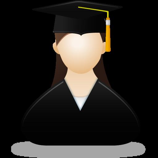 Female, Graduate Icon