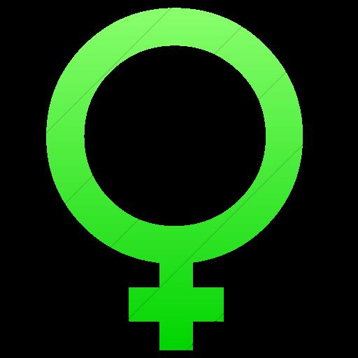 Simple Ios Neon Green Gradient Classica Female Symbol Icon