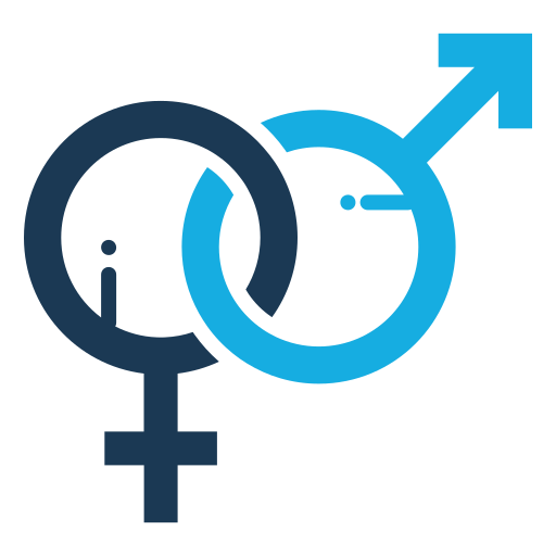 Male, Female, Symbol Icon Free Of Medical Flat Color