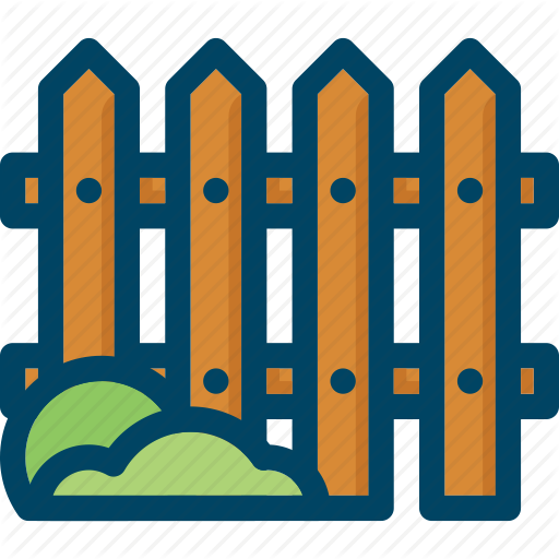 Fence, Garden, Grass, Home, Palisade, Wood Icon