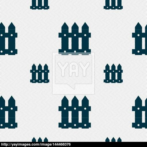 Fence Icon Sign Seamless Pattern With Geometric Texture Vector