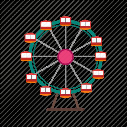 Christmas, Ferris, Festival, Fun, Giant, Sky, Wheel Icon