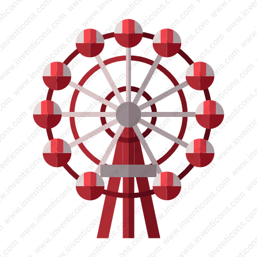 Download Hep,five,ferris,wheel Icon Inventicons
