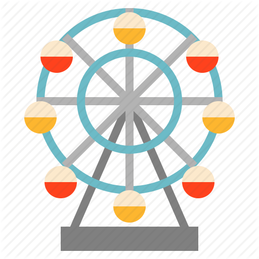 Ferris, Wheel Icon