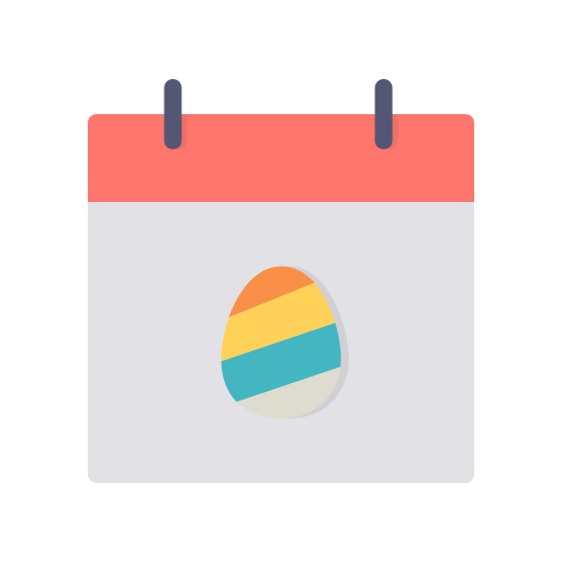 Easter, Day, Egg, Festival, Event, Calendar, Celebration Icon Free