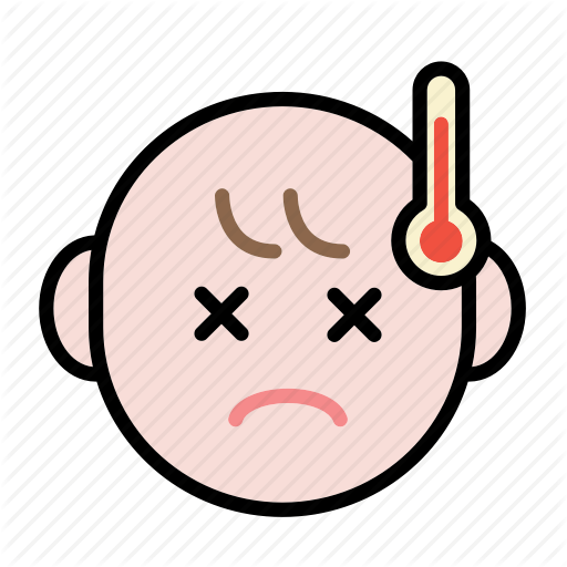 Baby, Emoji, Fever, Human Face Icon