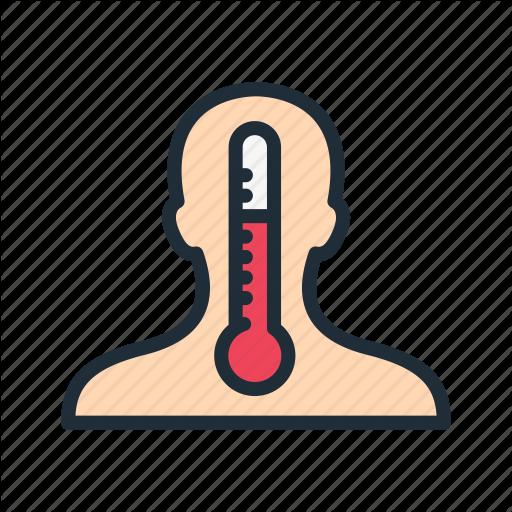 Body, Cold, Fever, Hot, Medicine, Temperature, Thermometer Icon