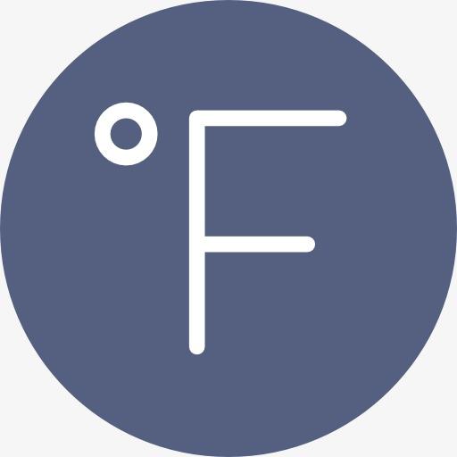 Temperature Icon, Fahrenheit, F, Icon Png Image And Clipart