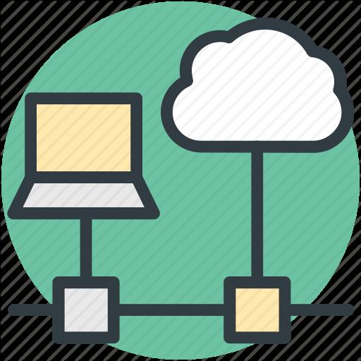 Cloud Connectivity, Cloud Network, Internet Coverage, Laptop