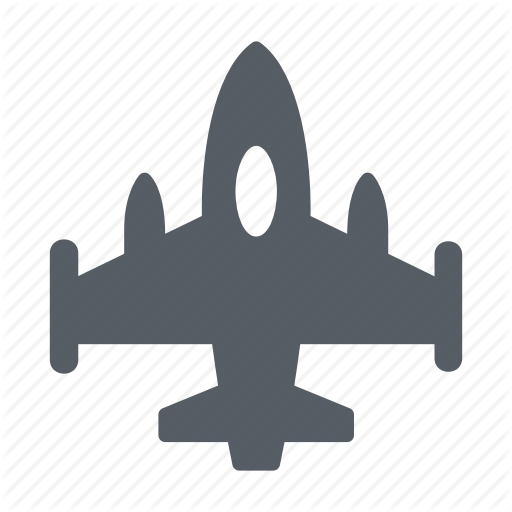 Airplane, Army, Fighter, Jet, Military Icon