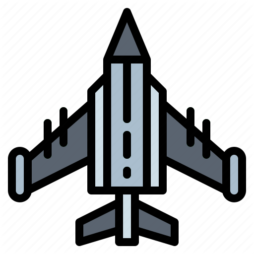 Airplane, Fighter, Jet, Transportation Icon