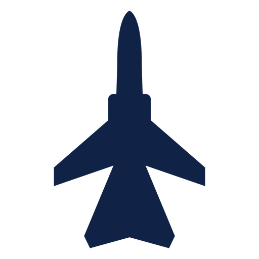 Fighter Aircraft Top View Silhouette