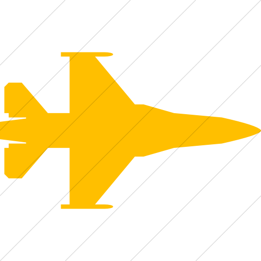 Simple Yellow Bootstrap Font Awesome Fighter Jet Icon