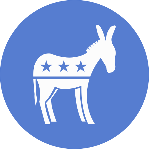 Election Donkey Icon Circle Blue Election Iconset Icon Archive