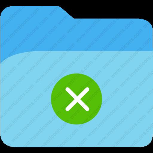 Download Disk,document,file,folder Cross,folder Icon Inventicons