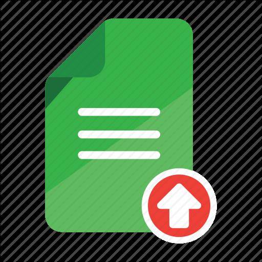 Document, Upload, Office, Record, Upload, Upload Attachment Icon
