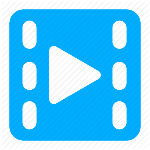 Blue, Film, Movie, Play, Video Icon